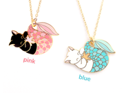 Blue Purrmaid Necklace - Oh Plesiosaur
