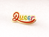 Seconds Sale - Queer Pin (Glitter) - Oh Plesiosaur