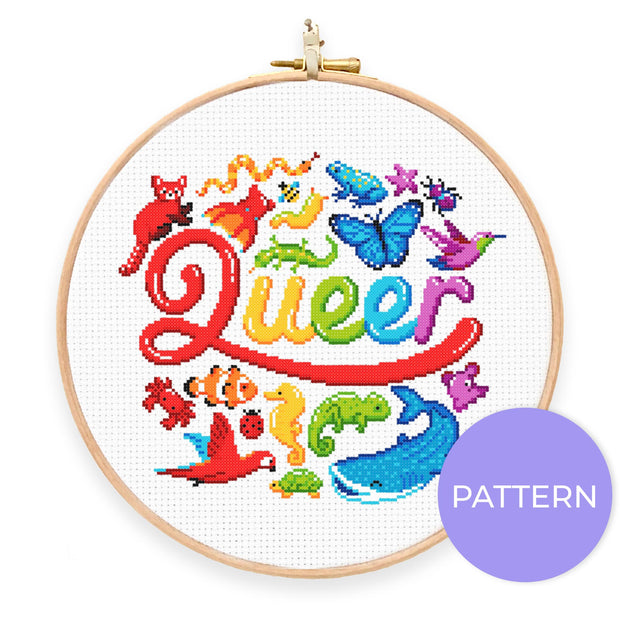 Queer Animals Cross Stitch Pattern