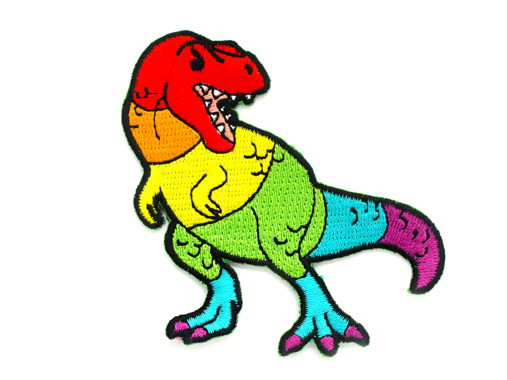 Rainbow T. Rex Patch