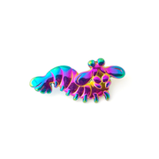 Mantis Shrimp Pin - Rainbow - Oh Plesiosaur