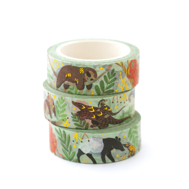 Rainforest Washi Tape - Oh Plesiosaur