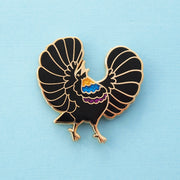 Riflebird Bird-of-paradise Pin - Oh Plesiosaur