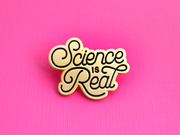 Seconds Sale - Science is Real Pin (Gold) - Oh Plesiosaur