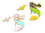 Sea Dragon Mermaid Pin Set - Oh Plesiosaur