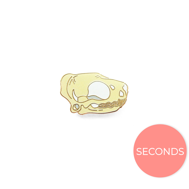Seconds Sale - Bonneted Bat Skull Pin - Oh Plesiosaur