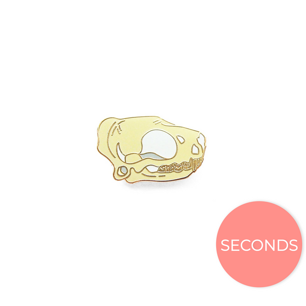 Seconds Sale - Black Bear Skull Pin - Oh Plesiosaur