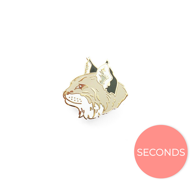 Seconds Sale - Bobcat Head Pin - Oh Plesiosaur