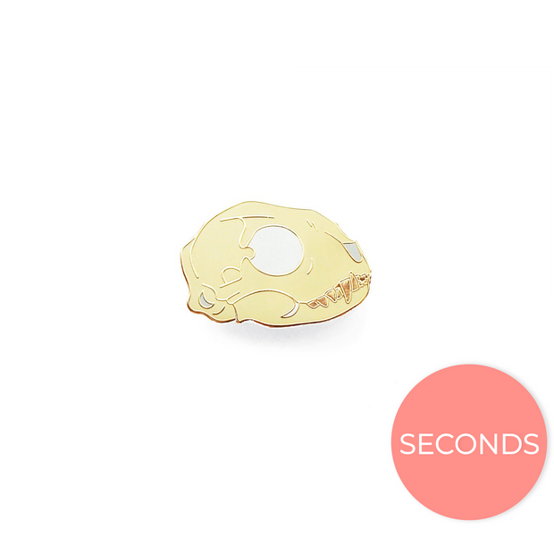 Seconds Sale - Bobcat Skull Pin - Oh Plesiosaur