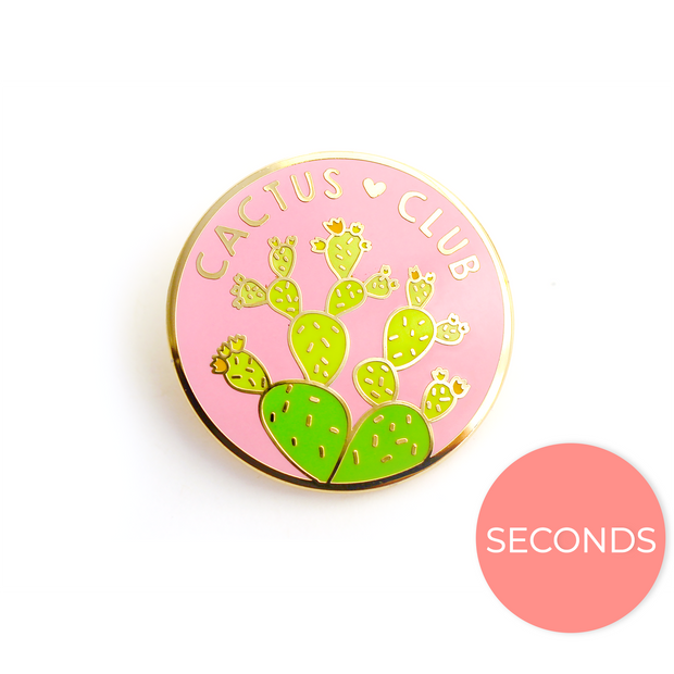 Seconds Sale - Cactus Club Pin - Oh Plesiosaur