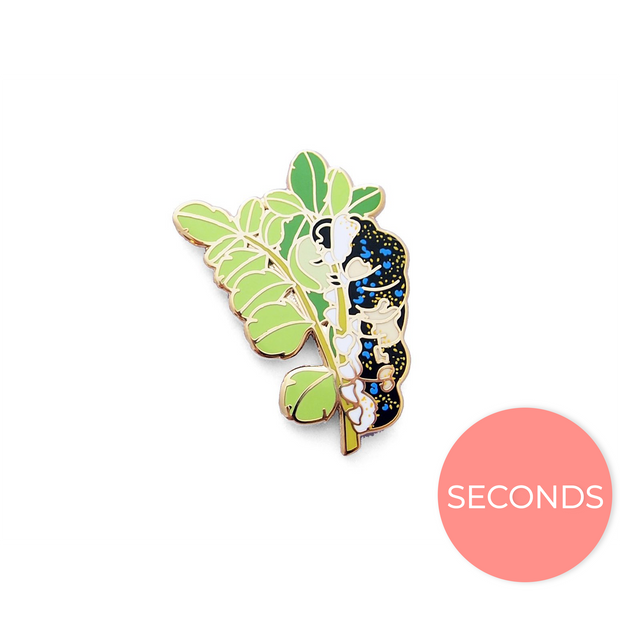 Seconds Sale - Schaus' Swallowtail Caterpillar Pin - Oh Plesiosaur