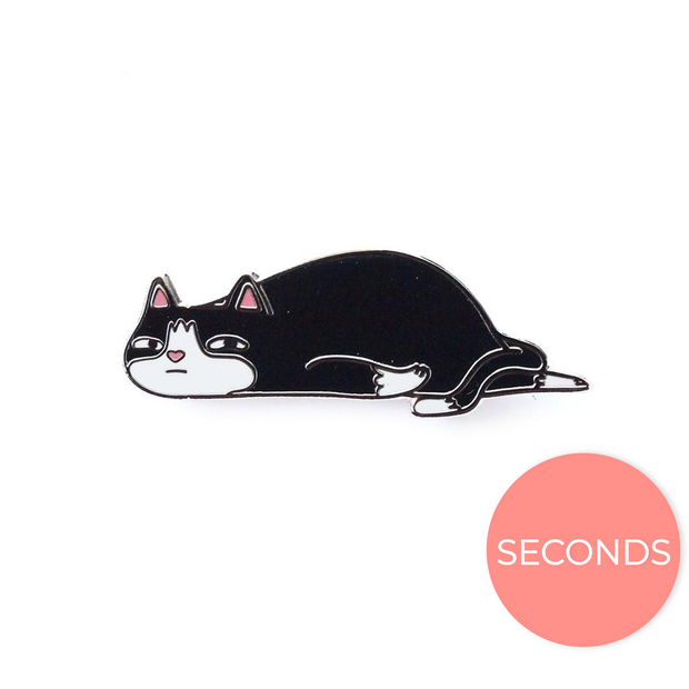 Seconds Sale - Ennui Cat Pin - Oh Plesiosaur