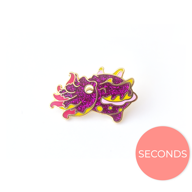 Seconds Sale - Flamboyant Cuttlefish Pin - Oh Plesiosaur