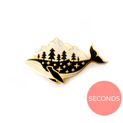 Seconds Sale - Gold Whale-derness Pin - Oh Plesiosaur