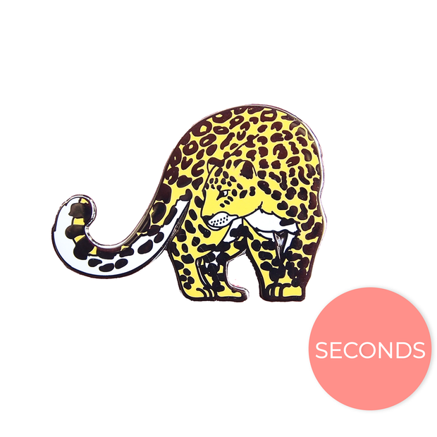 Seconds Sale - Amur Leopard Pin - Oh Plesiosaur