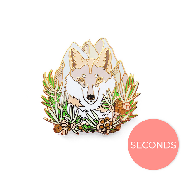 Seconds Sale - Mexican Wolf (Lobo) Pin - Oh Plesiosaur