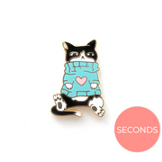 Seconds Sale - Loki Pin (Sweater Weather) - Oh Plesiosaur