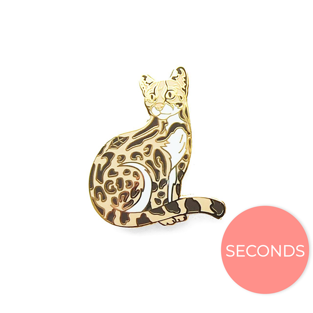 Seconds Sale - Margay pin - Oh Plesiosaur