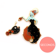 Seconds Sale - Anglerfish Mermaid Pin Set - Oh Plesiosaur