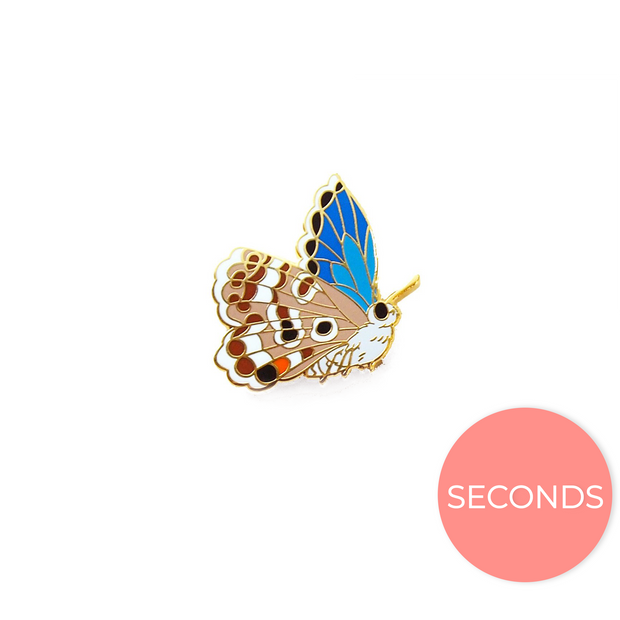 Seconds Sale - Miami Blue Butterfly Pin (showing brown underwing) - Oh Plesiosaur