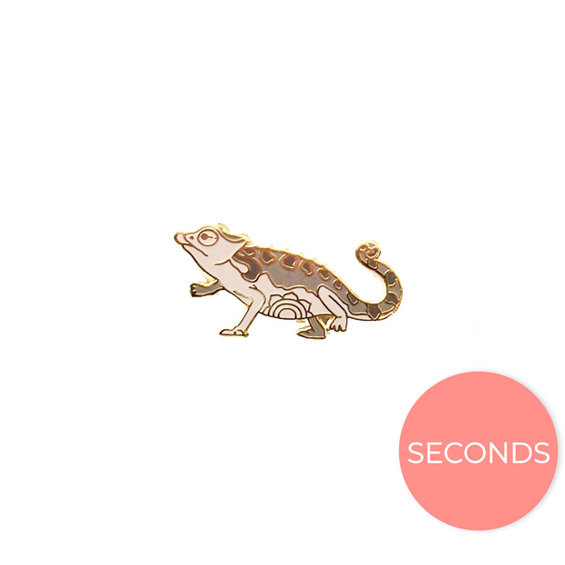 Seconds Sale - Namaqua chameleon Pin - Oh Plesiosaur