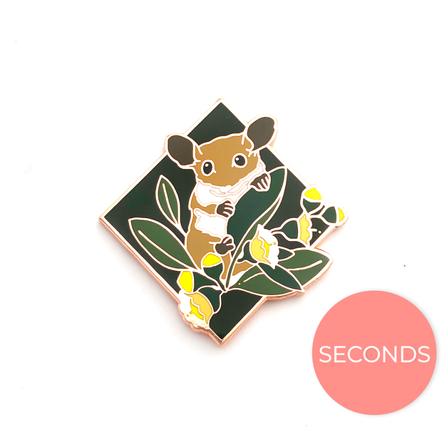 Seconds Sale - Pygmy Possum Pin - Oh Plesiosaur