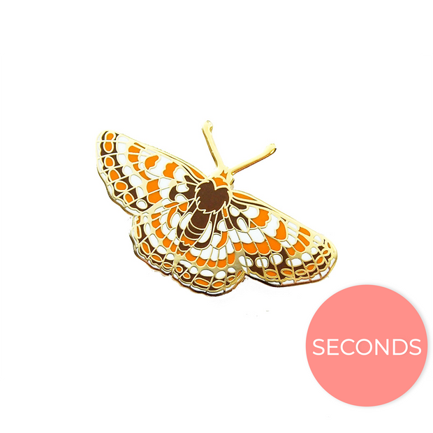 Seconds Sale - Quino Checkerspot Butterfly Pin - Oh Plesiosaur