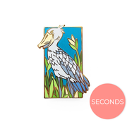 Seconds Sale - Shoebill Pin - Oh Plesiosaur
