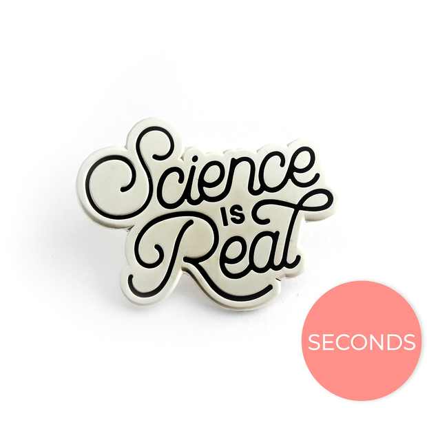 Seconds Sale - Science is Real Pin (Silver) - Oh Plesiosaur