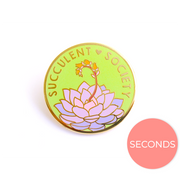 Seconds Sale - Succulent Society Pin - Oh Plesiosaur