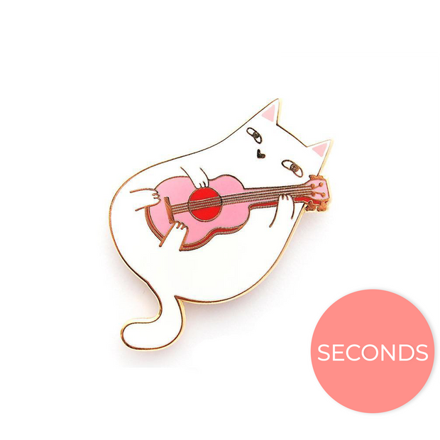 Seconds Sale - Ukulele Cat Pin - Oh Plesiosaur