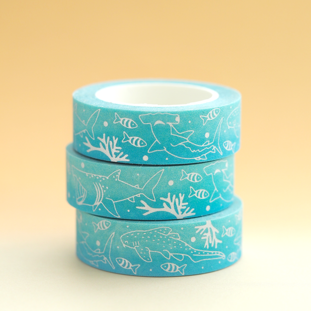 Shark Washi Tape - Oh Plesiosaur