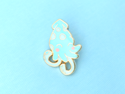 Blue Squid Pin - Oh Plesiosaur
