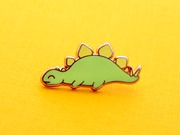 Seconds Sale - Sleepy Stegosaurus Pin - Oh Plesiosaur