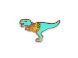 Blue Sweater Dino Enamel Pin