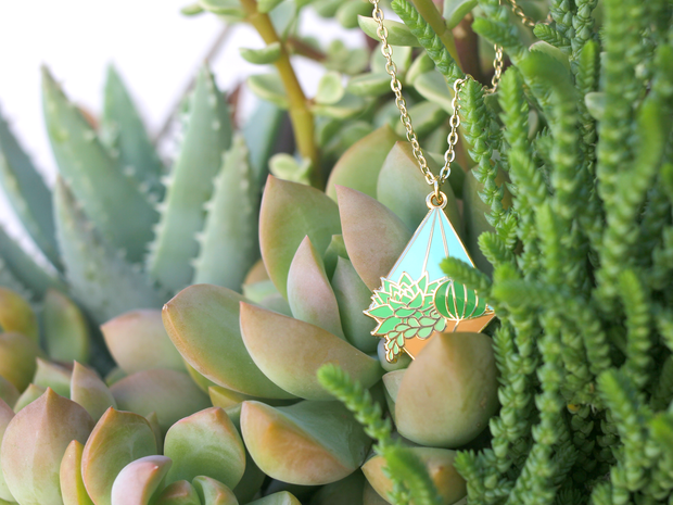 Day Terrarium Necklace - Oh Plesiosaur
