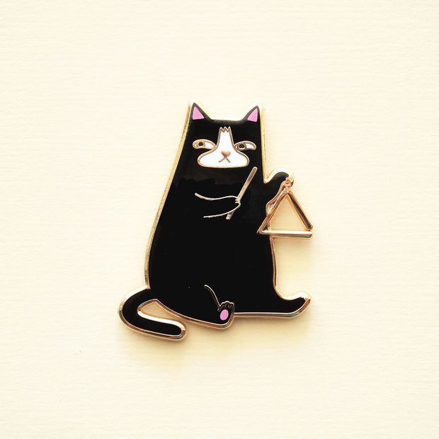 Triangle Cat Pin - Oh Plesiosaur