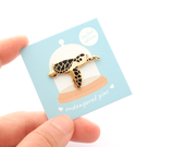 Hawksbill Sea Turtle Pin - Oh Plesiosaur