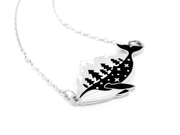 Silver Whale-derness Necklace - Oh Plesiosaur