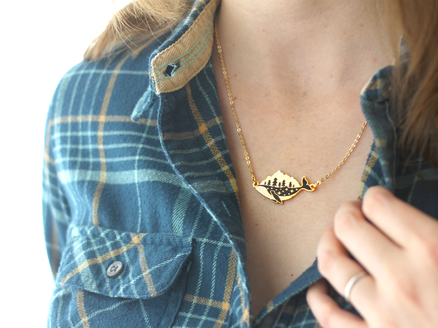 Gold Whale-derness Necklace - Oh Plesiosaur