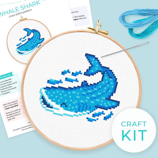 Whale Shark Cross Stitch Kit