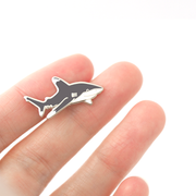 Mini Oceanic Whitetip Shark Pin - Oh Plesiosaur