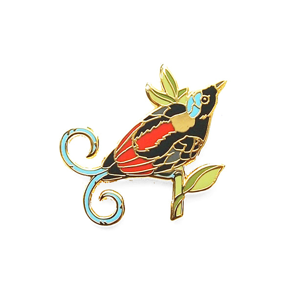 Wilson's Bird-of-Paradise Pin - Oh Plesiosaur