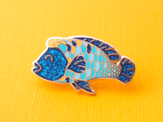 Seconds Sale - Humphead Wrasse Pin - Oh Plesiosaur