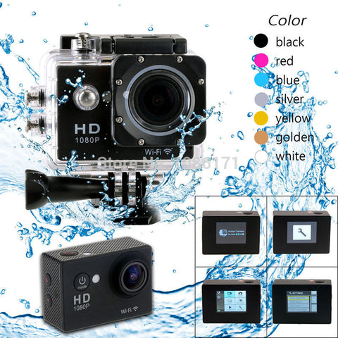 "1.5""  Action Video Camera SJ4000 1080p Full HD Waterproof Sport Gold"