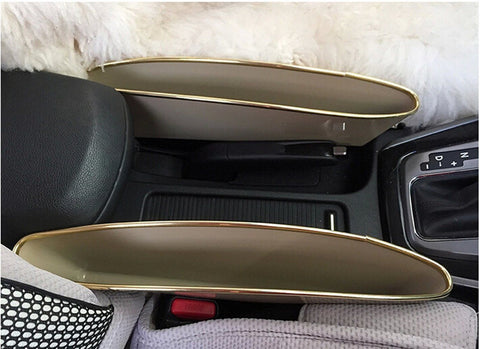 2PCS Catch Catcher Box Caddy Car Seat Gap Slit Pocket Storage Organizer Holder