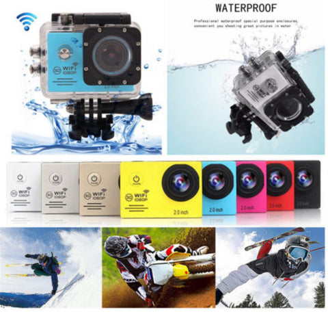 "2"" SJ7000 WIFI 1080P Full HD Waterproof Sports DV Action Camera Camcorder Cam"
