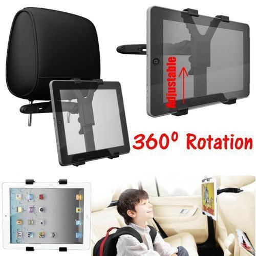 360 Universal Car BackSeat Headrest Mount Holder For iPad2 3 4 Air Tablet Galaxy