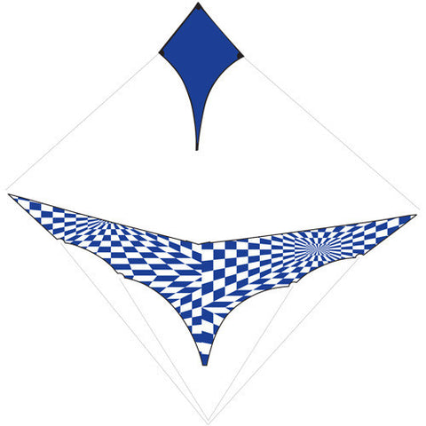 Complete Sail Set with Rigging - Blue Op-Art Canard