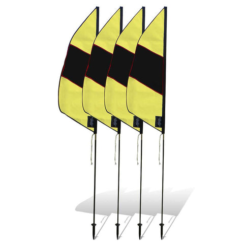 3.5 ft. Boundary Air Gate Marker for FPV Drone Racing (set of 4) - Black and Yellow